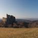Hollókői vár februárban - a szerelmesek padja