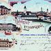 1898 - Lučenec - radnica, pohľad na mesto, dievčenská škola,